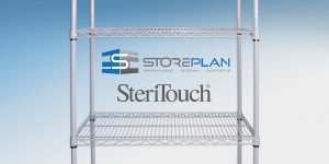 Antimicrobial Mesh Racking by Storeplan